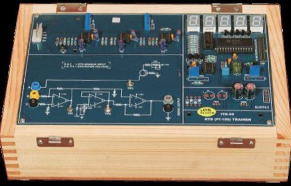 Temperature Measurement Trainer Model PCT 058 using RTD (PT-100)