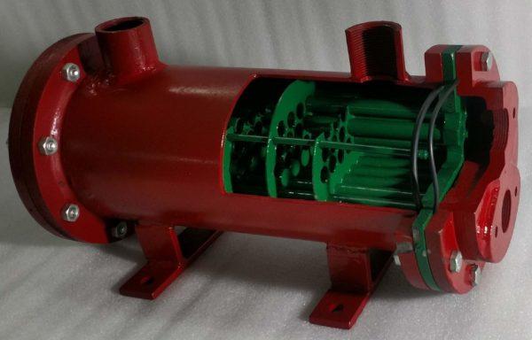 Shell & Tube Heat Exchanger Cutaway Model THC 009