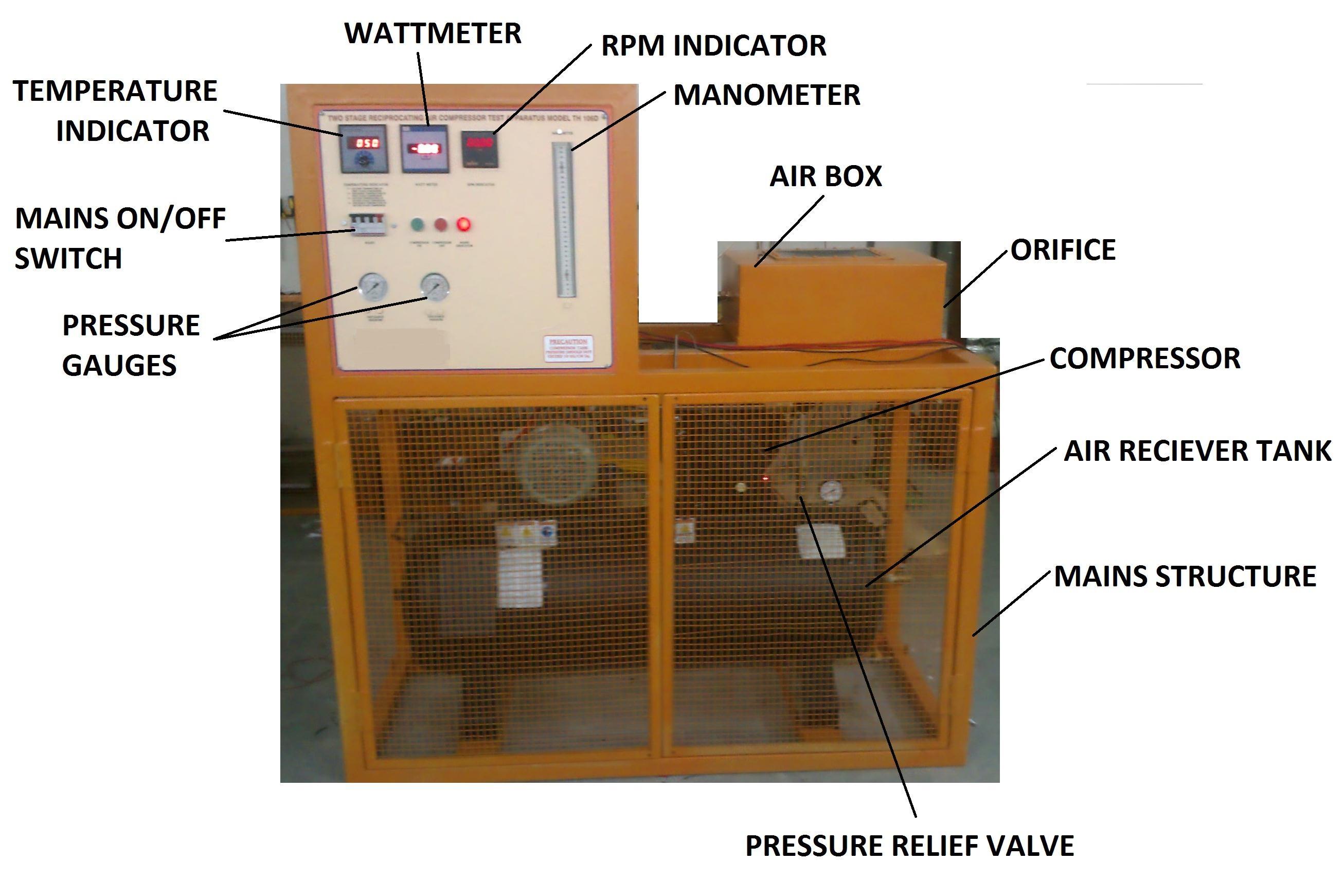 Reciprocating Air- Compressor Test Apparatus Model TH 106D