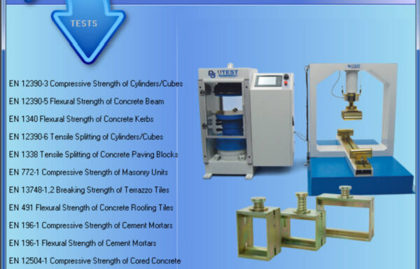 Software SCTC-4940 UTEST Software for Automatic Compression  / Flextural Strength Testing Machine